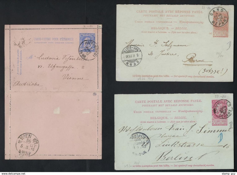LEOPOLD II    20 Postkaarten Met O.a. Van Nr. 30 + Fijne Baard En Grove Baard ; Staat Zie 6 Scans ! LOT 238 - Verzamelingen
