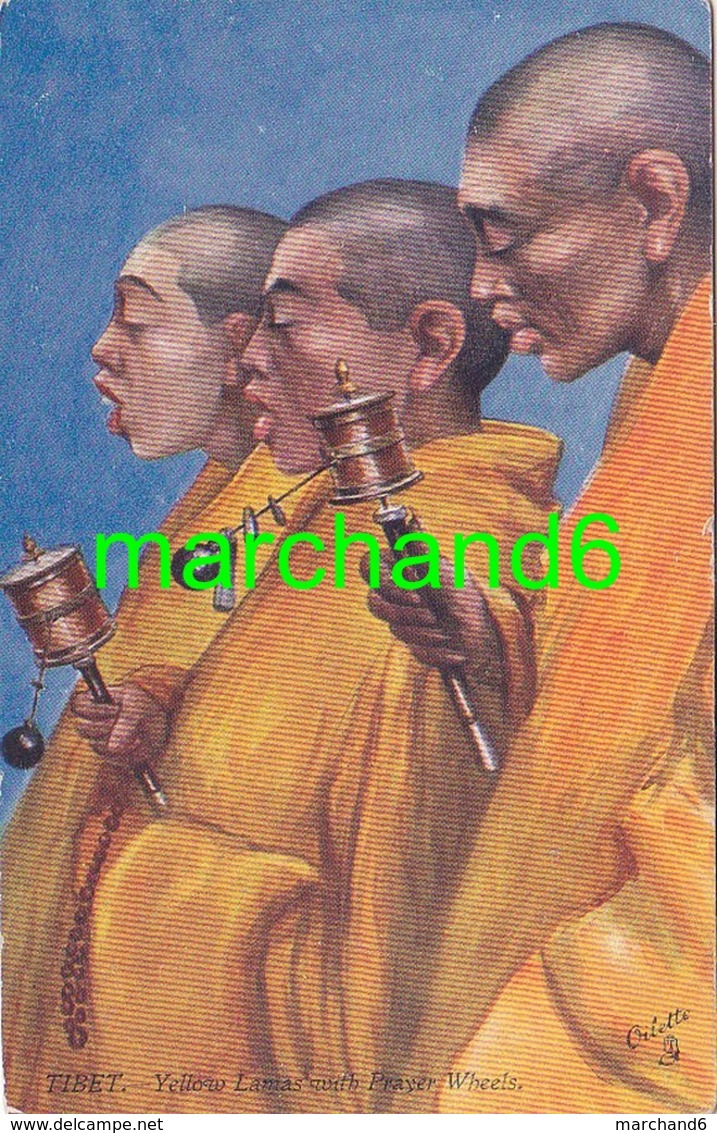 Asie Tibet Yellow Lamas With Prayer Wheels Editeur Raphael Tuck & Sons' Oilette N°7327 - Tibet
