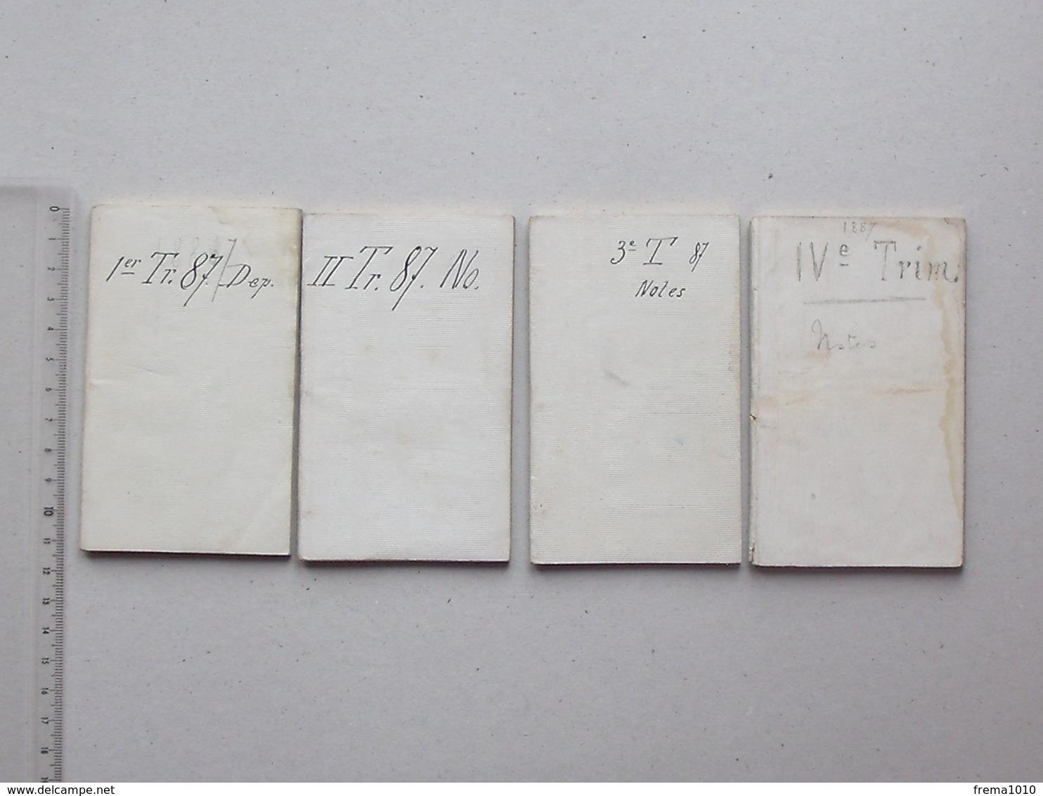 AGENDA 1887 (ou Tablettes Journalières): 1e, 2e, 3e Et 4e Trimestre - Année Complète - Calendriers