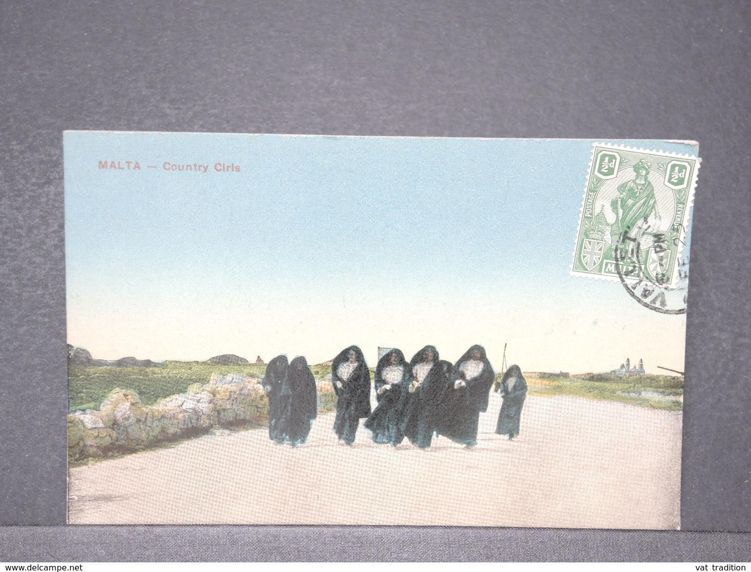 MALTE - Carte Postale De Malte - Country Cils -voyagé Pour La France 1925 - L 15694 - Malte