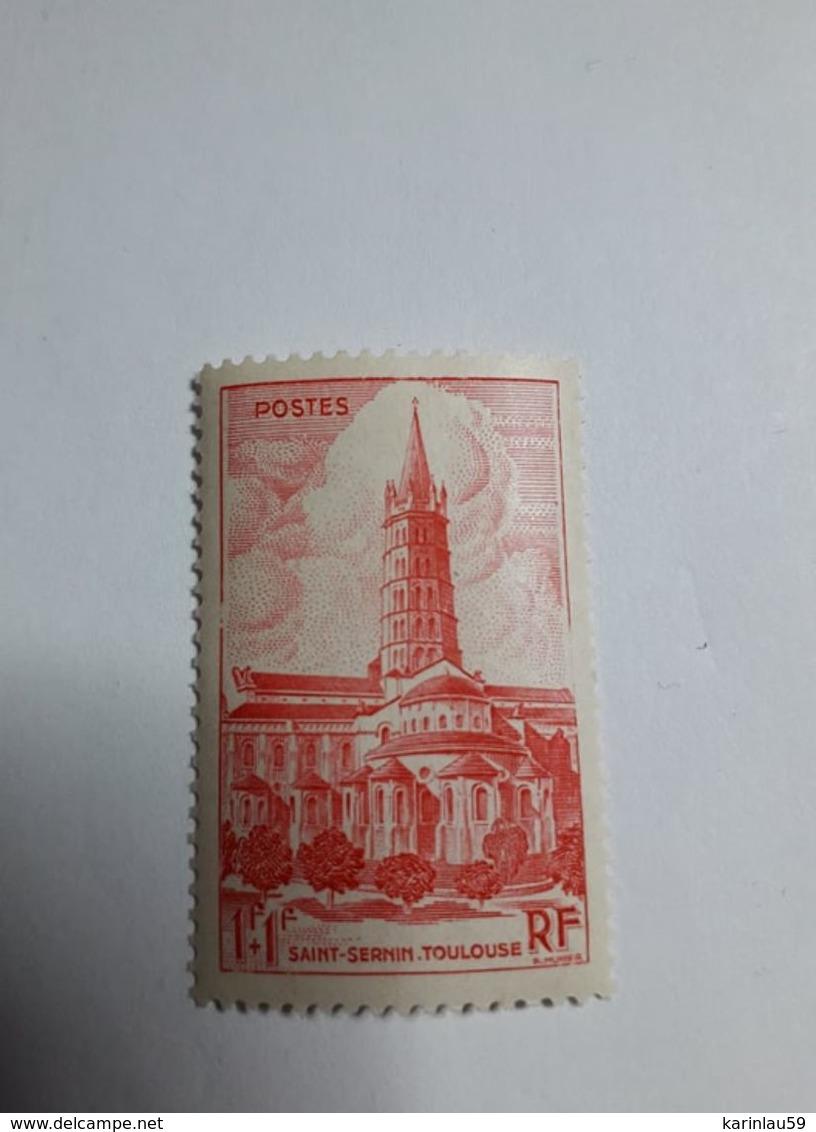 Timbre France  1947 - Basilique St Sernin, De Toulouse - N° 772 Neuf - France