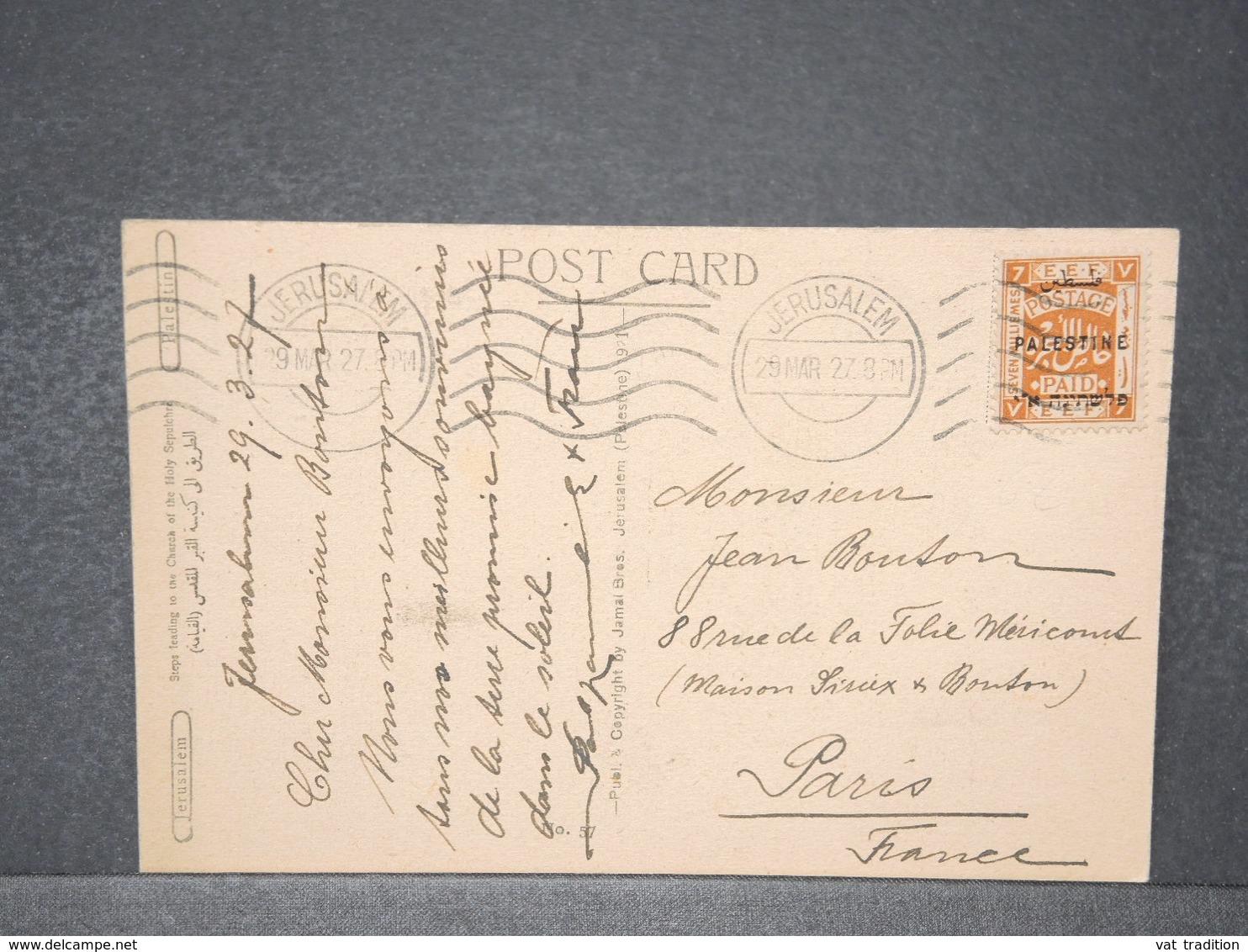 PALESTINE - Affranchissement De Jérusalem Sur Carte Postale En 1927 - L 15704 - Palestine