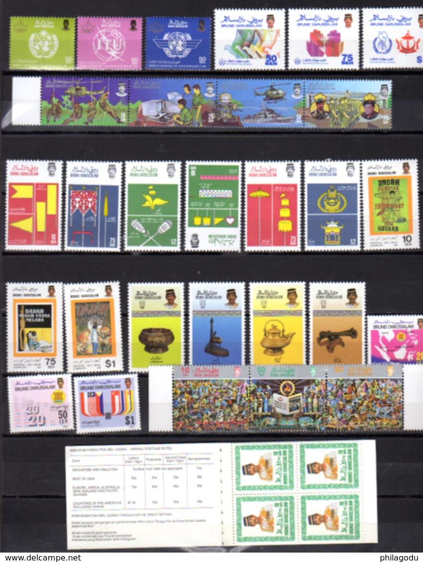 1982-87  Brunei, Timbres Entre Yv. 286 Et 374**, Cote 168 €, - Brunei (1984-...)