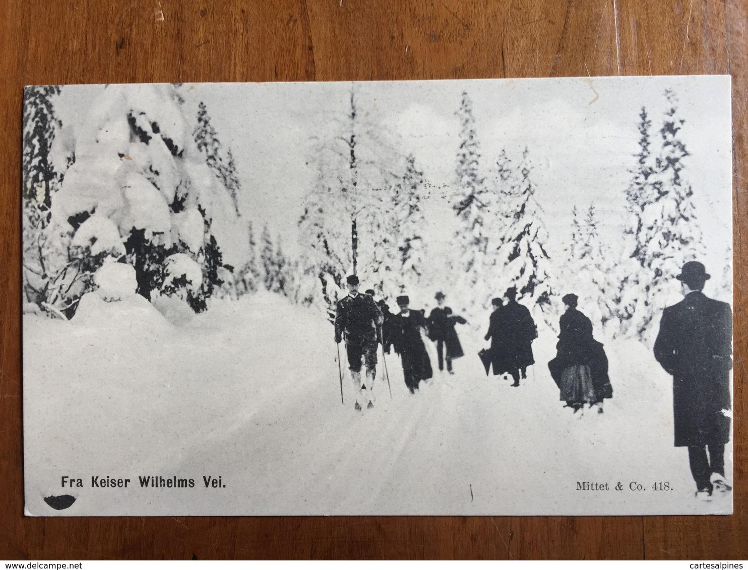 (ski, Oslo) Fra Keiser Wilhelms Vei (Route De L'Empereur Guillaume), 1912 - Norvège