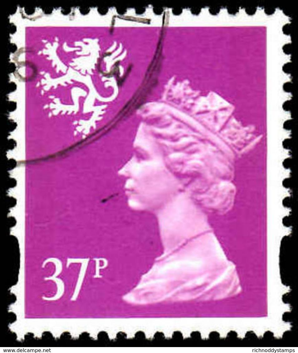 Scotland 1993-98 37p Bright Mauve Litho Questa Fine Used. - Regional Issues