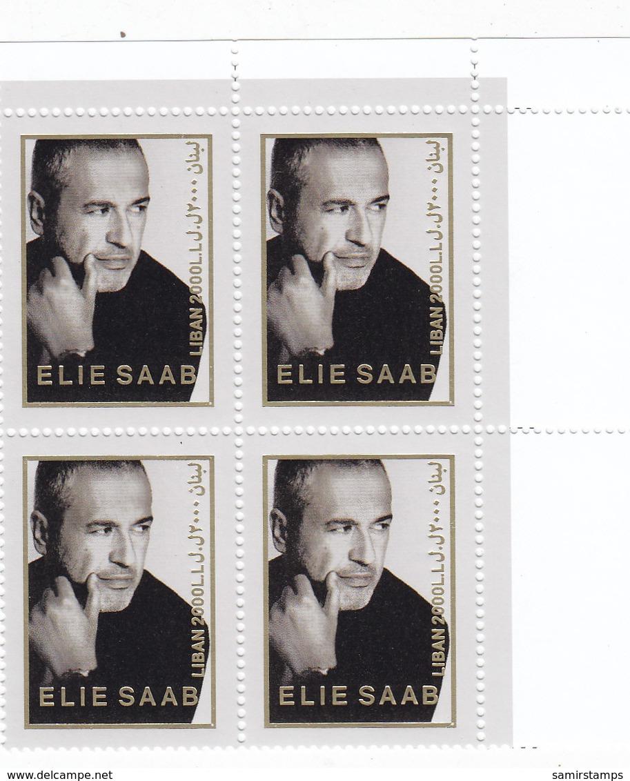 Lebanon-Liban New Issue 2018,Honoring Famous Designer ELIE SAAB Bloc's Of 4-MNH- SKRILL PAY ONLY - Lebanon