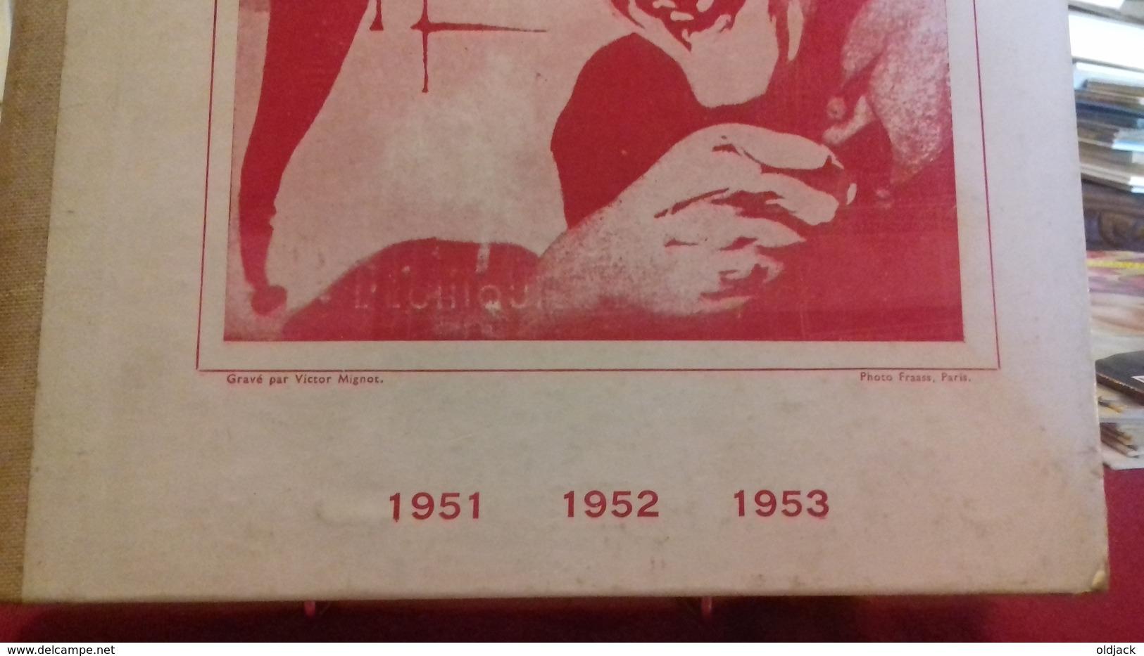 RARE RELIURE 1951,1952,1953.L'ÉCHIQUIER DE PARIS,L'ÉCHIQUIER DE FRANCE.REVUE D'ÉCHECS (col8a) - Jeux De Société