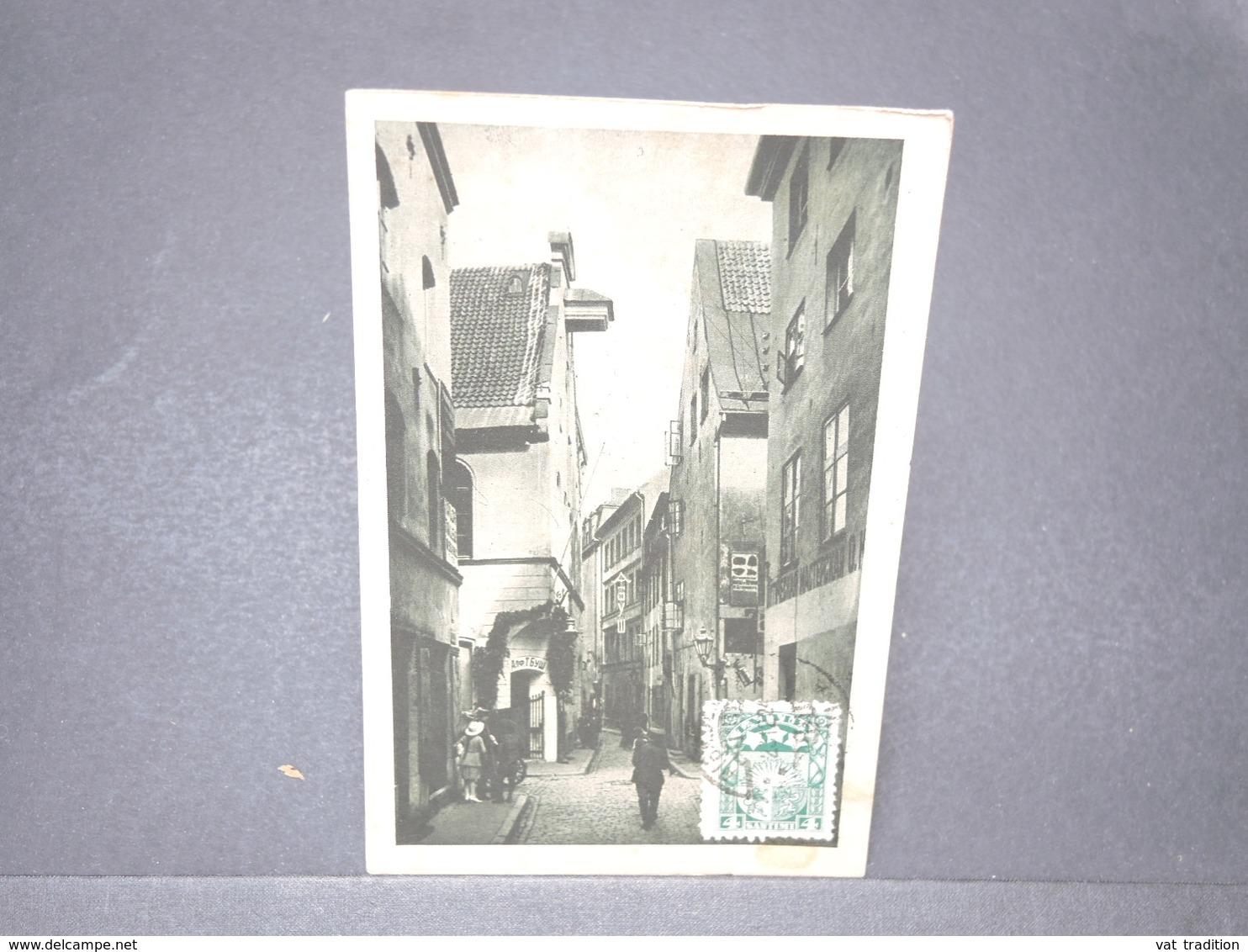 LETTONIE - Carte Postale De Riga - Die Klein Jungfernstrasse - 1924 - L 15768 - Lettonie