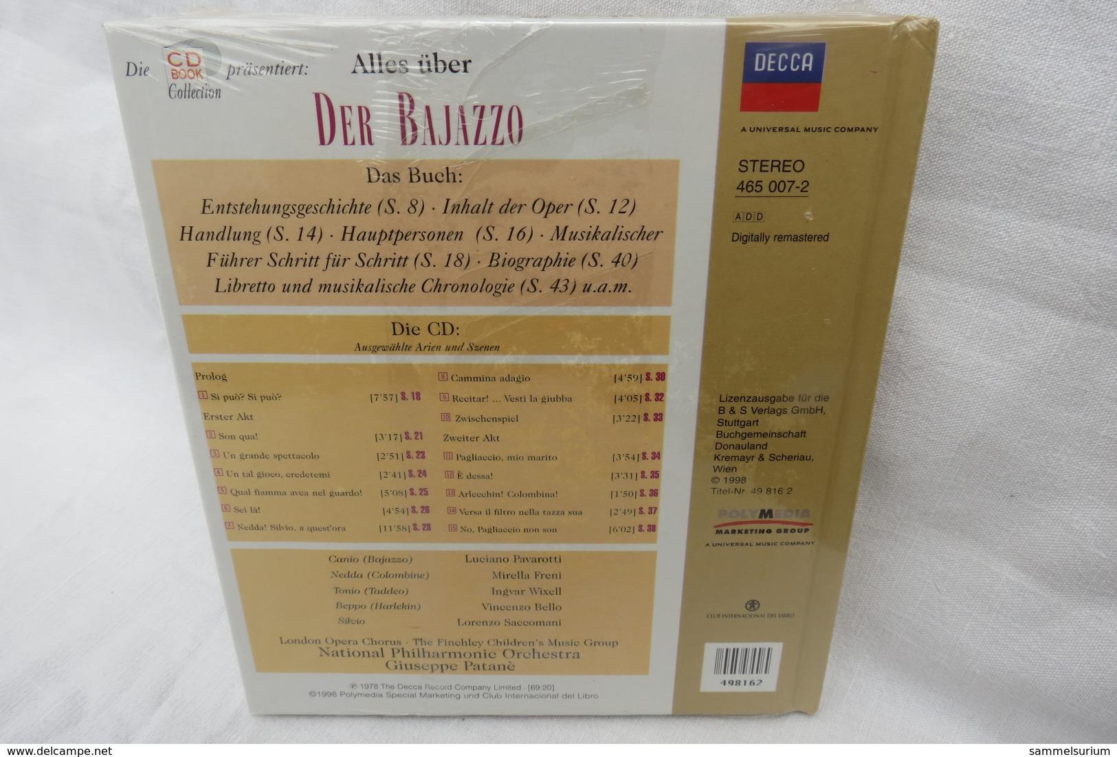 """CD """"Der Bajazzo / Ruggero Leoncavallo"""" Mit Buch Aus Der CD Book Collection (ungeöffnet, Original Eingeschweißt) - Oper & Operette"""