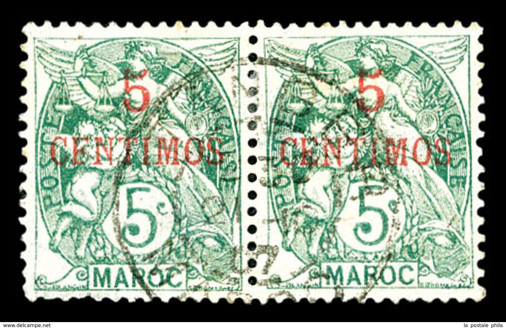 O MAROC BUREAUX Français, N°11b, CFNTIMOS Tenant à Normal. TB   Qualité: O   Cote: 100 Euros - Marokko (1891-1956)