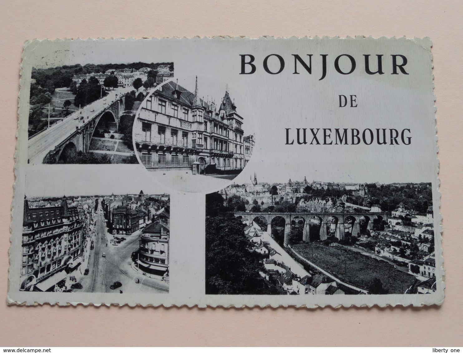 Bonjour De Luxembourg ( Schaack ) Anno 1953 ( Zie Foto Details ) ! - Lussemburgo - Città