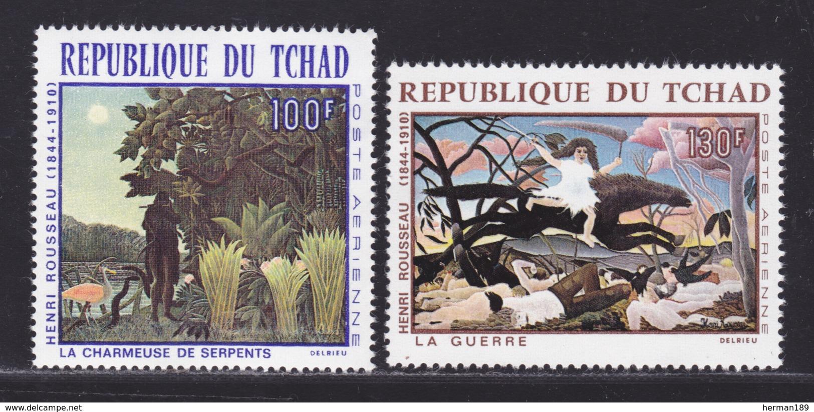 TCHAD AERIENS N°   47 & 48 ** MNH Neufs Sans Charnière, TB (D6286) Tableaux D'Henri Rousseau - Chad (1960-...)