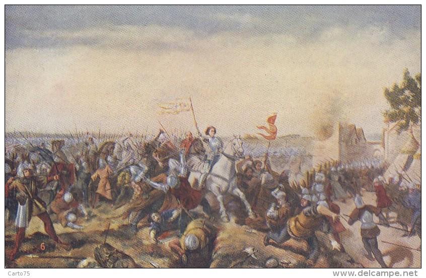 Histoire - Série De 10 Cpa Illustrées Sur La Vie De Jeanne D'Arc - Historia