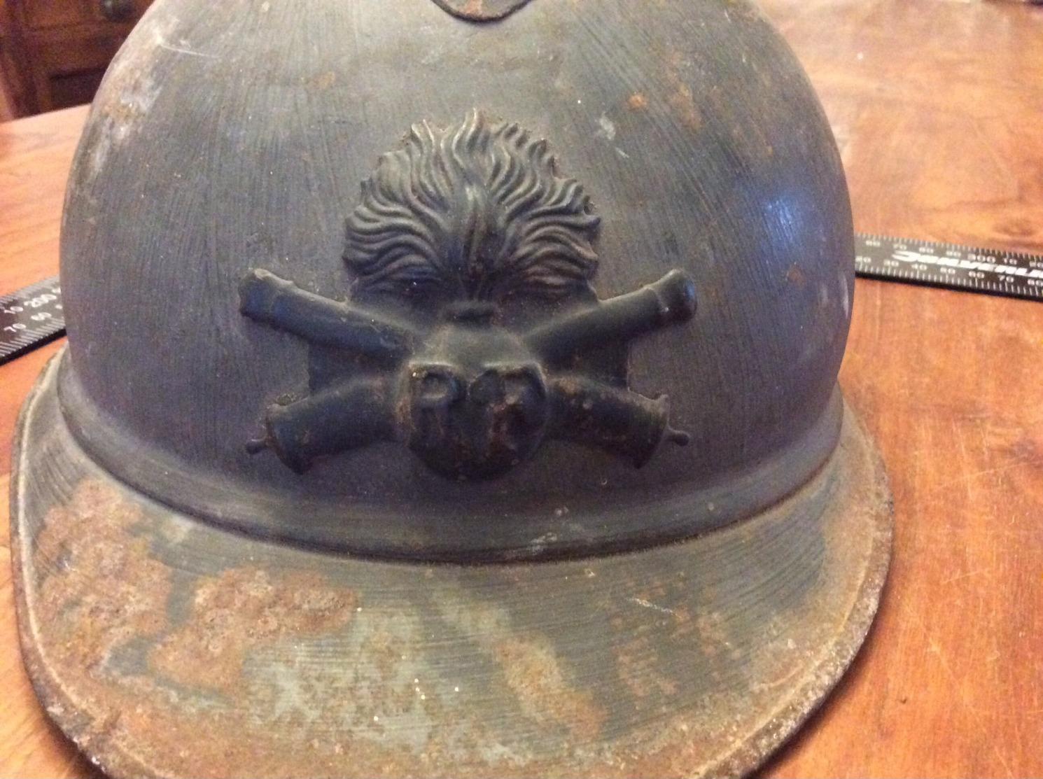 Casque Adrian R F Militaire 1914-18 - Cascos