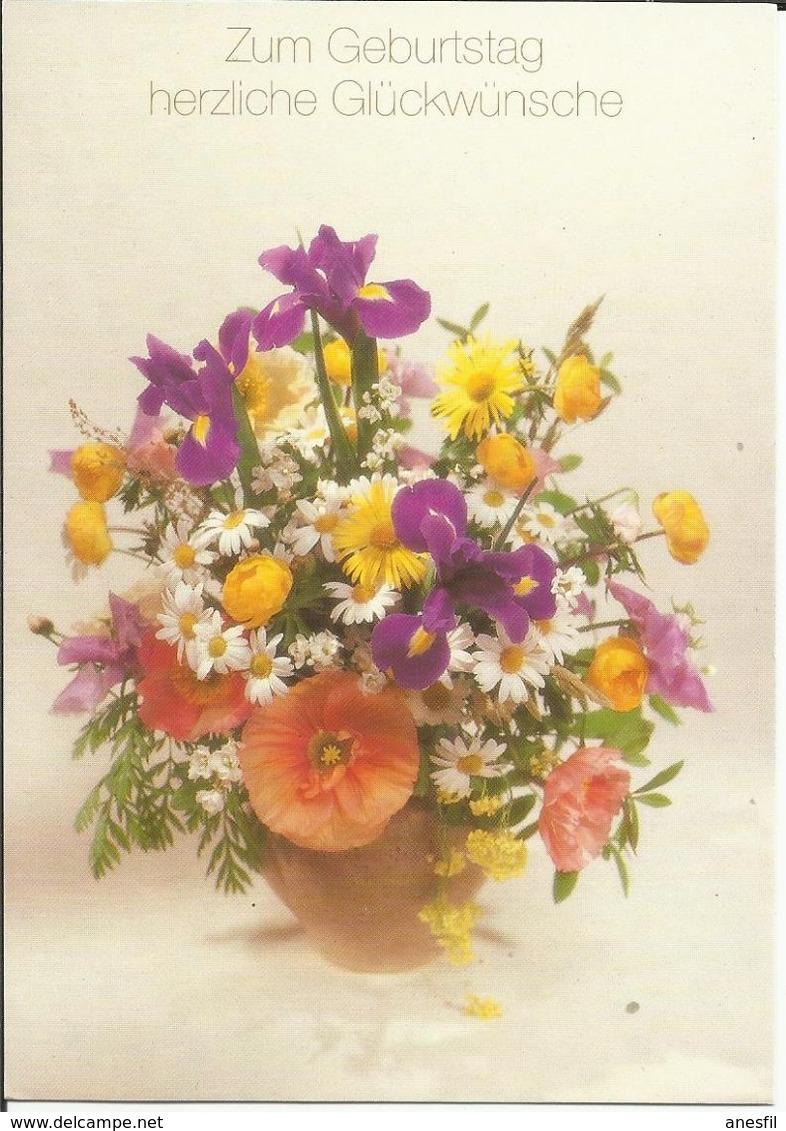 Flores. Tarjeta Impresa En Alemania. - Fotografía