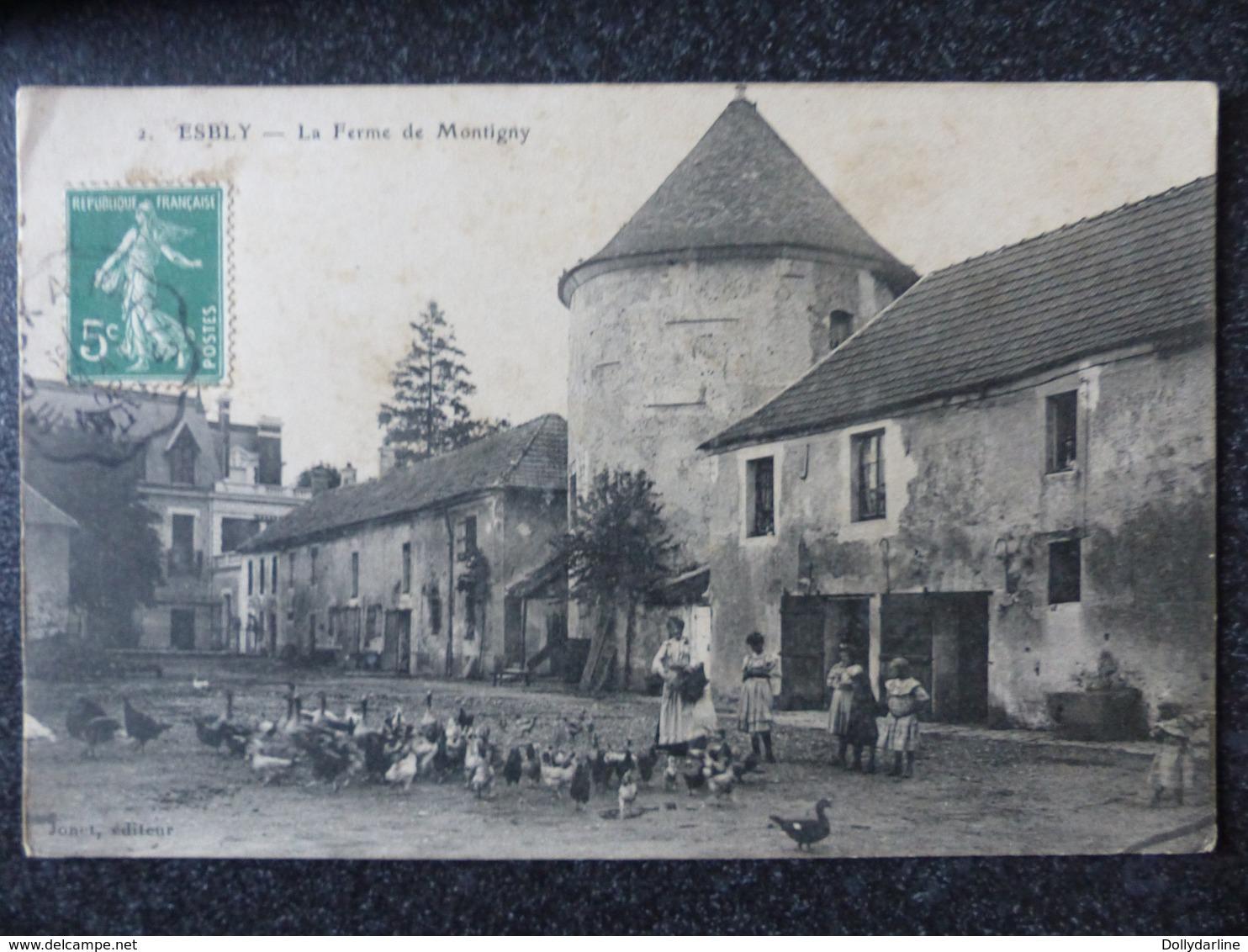 ESBLY La Ferme De Montigny Seine Et Marne Basse Cour Volaille Ecrite Circulée Animée - Esbly