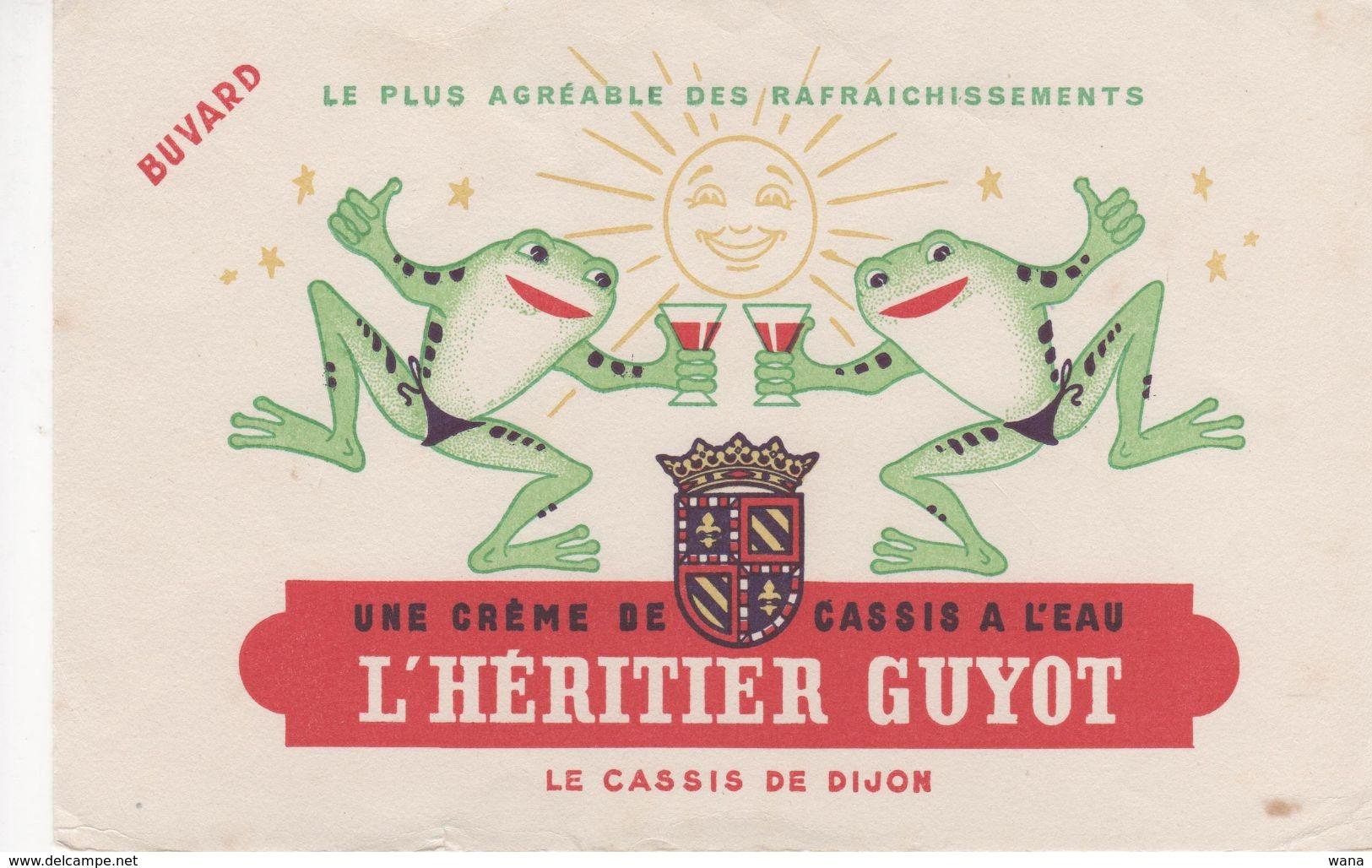 Buvard Crême De Cassis L'HERITIER GUYOT - Liquor & Beer