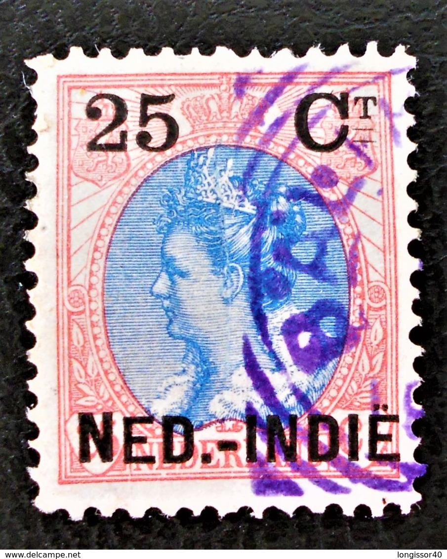 SURCHARGES 1899 - OBLITERE - YT 35 - MI 35 - BELLE OBLITERATION MAUVE - RARE !! - Niederländisch-Indien