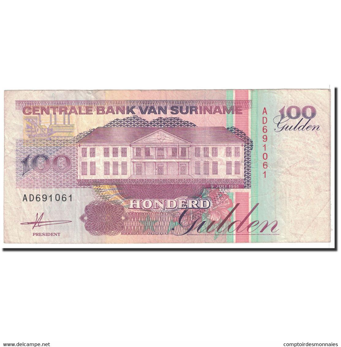 Billet, Surinam, 100 Gulden, 1991, 1991-07-09, KM:139a, TB+ - Surinam