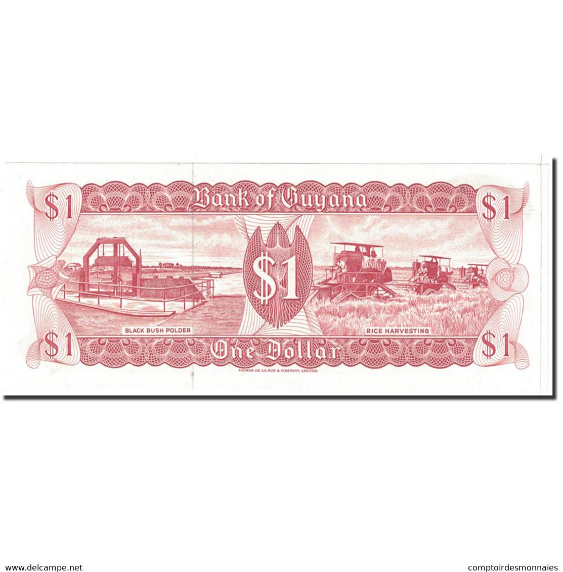 Billet, Guyana, 1 Dollar, 1966, Undated, KM:21g, SPL - Guyana