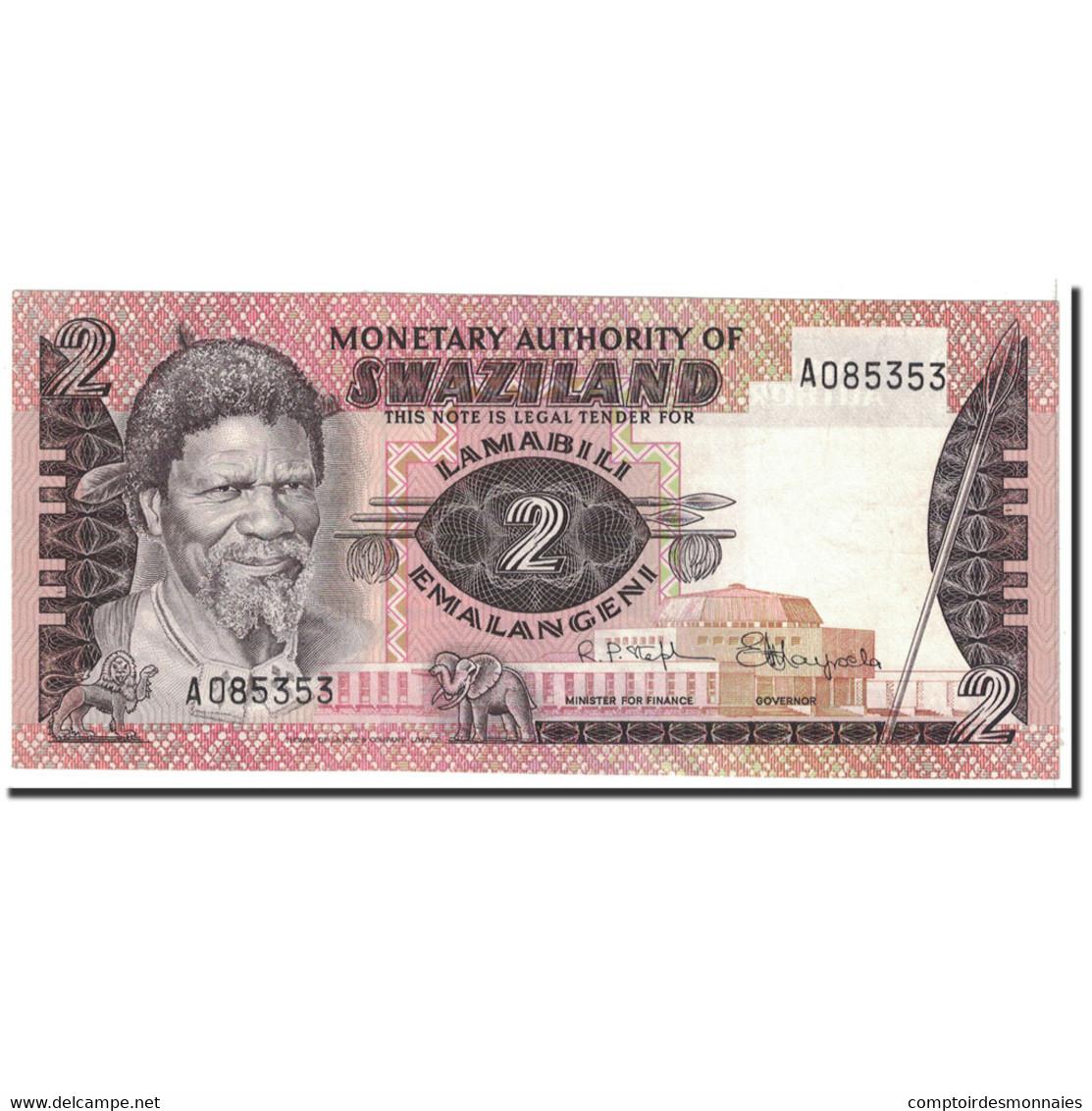 Billet, Swaziland, 2 Emalangeni, 1974, Undated, KM:2a, SPL+ - Swaziland