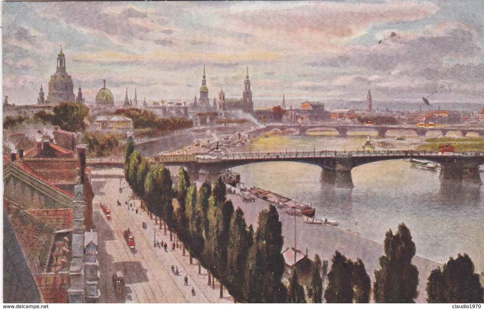 CARTOLINA - POSTCARD - GERMANIA - DRESDEN - CAROLA U. FRIEDRICH - AUGUST - BRUCKE - Dresden