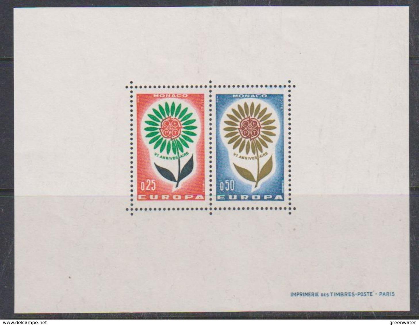 "Europa Cept 1964 Monaco M/s ""Sonderdruck"" Special Block ** Mnh (38149) - 1964"