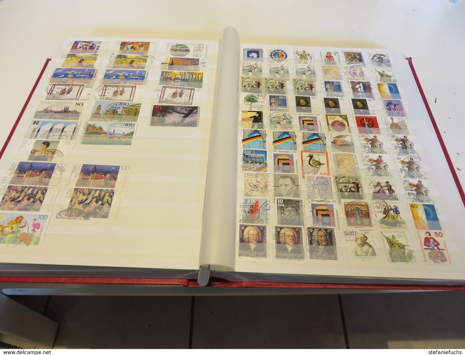 DEUTSCHLAND  Posten  O /  MARKEN  Im  Gebrauchten  STECKBUCH - Stamps