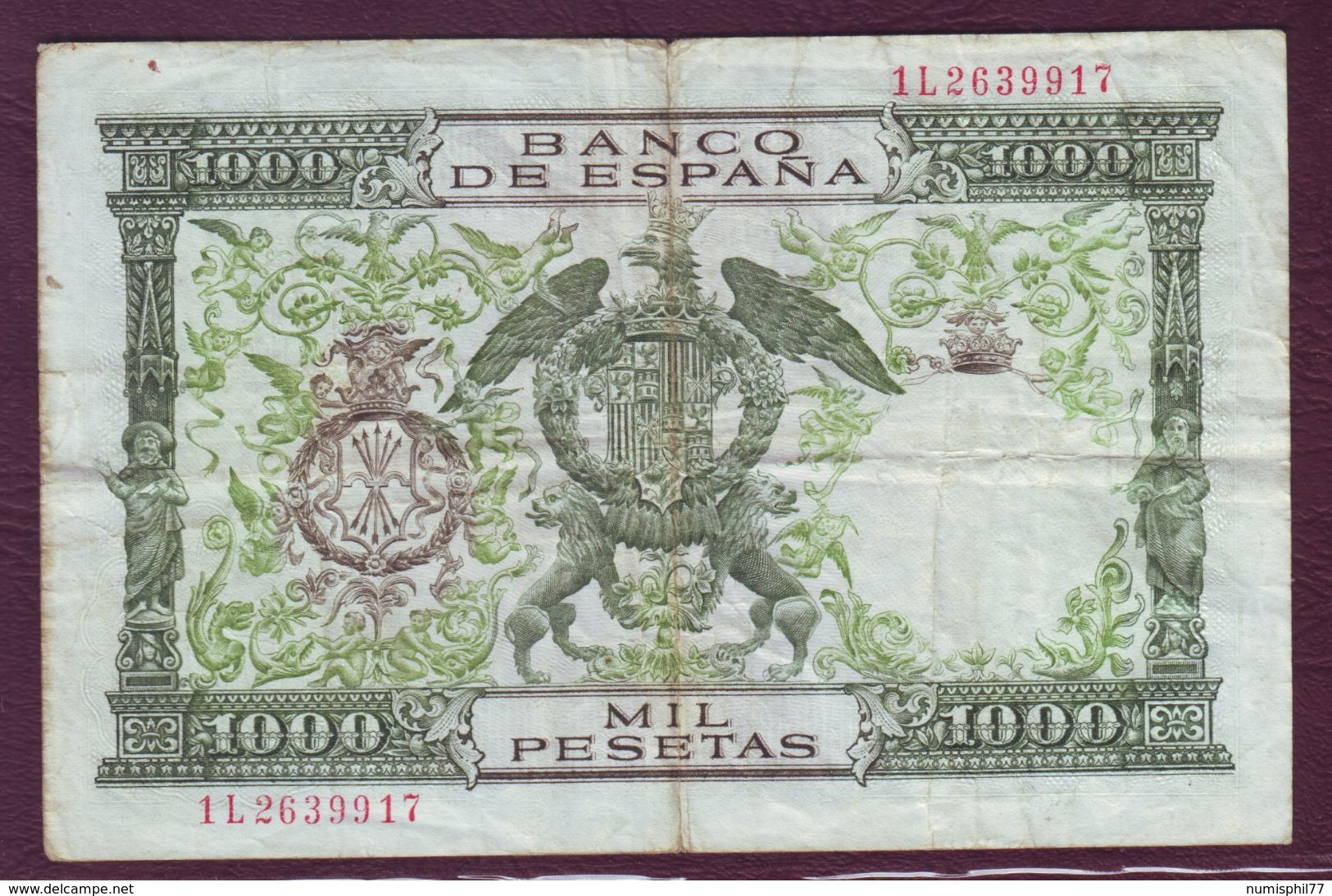 ESPAGNE - 1000 Pesetas Les Rois Catholiques - 29/11/1957 - [ 3] 1936-1975: Regime Van Franco