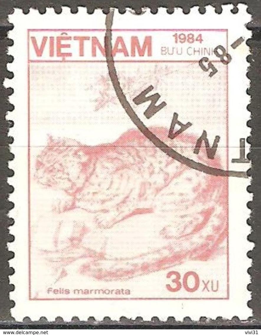 Vietnam - 1984 - Chat Marbré - YT 554 Oblitéré - Roofkatten