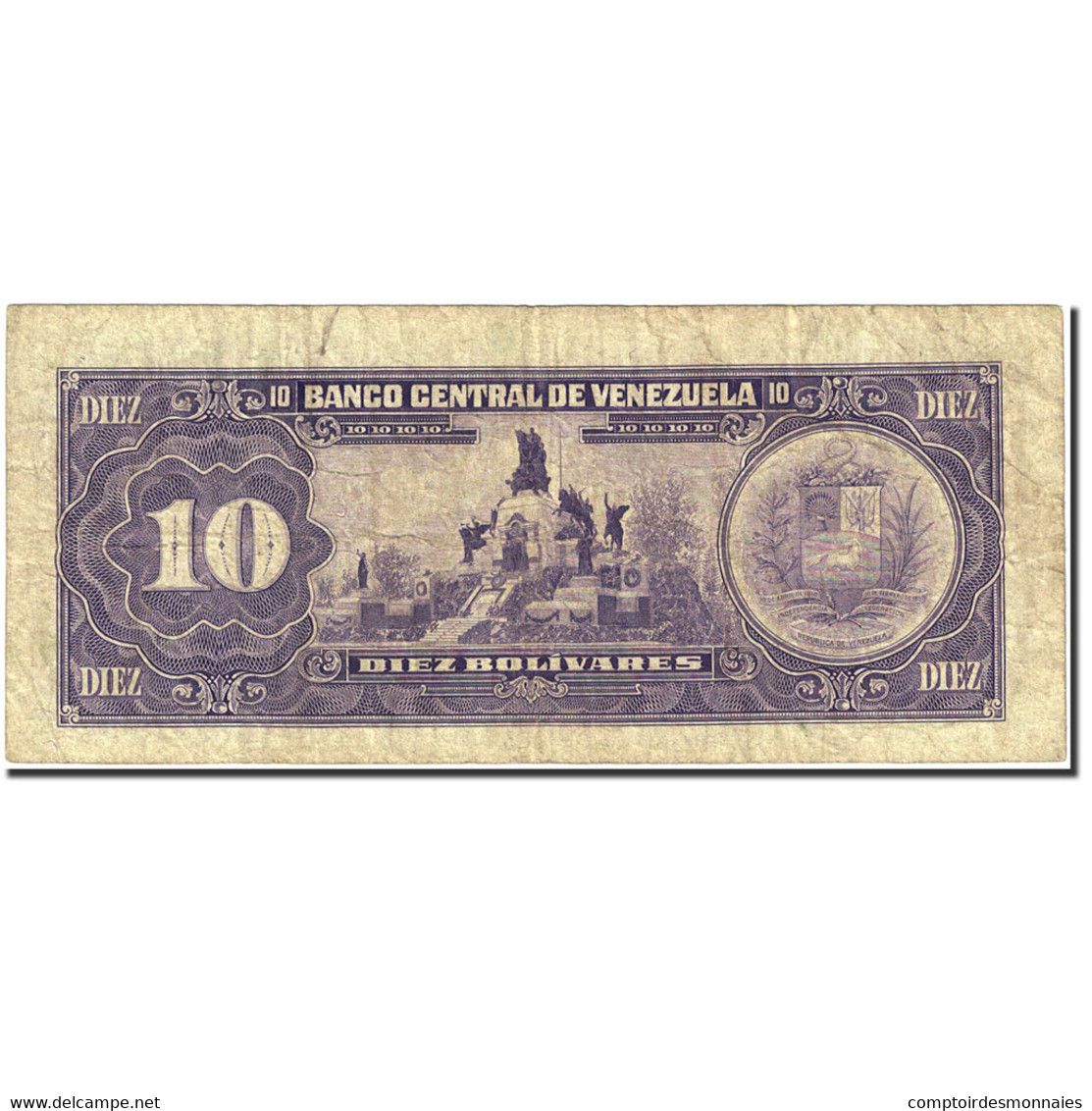 Billet, Venezuela, 10 Bolívares, 1981-1988, 1990-05-31, KM:61b, TB - Venezuela