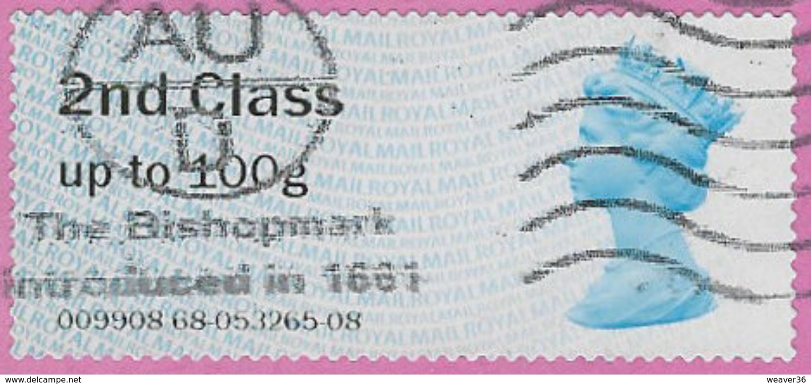 GB 2013 2nd Class Post And Go Used Code 009908 (1) [32/127/ND] - Post & Go Stamps