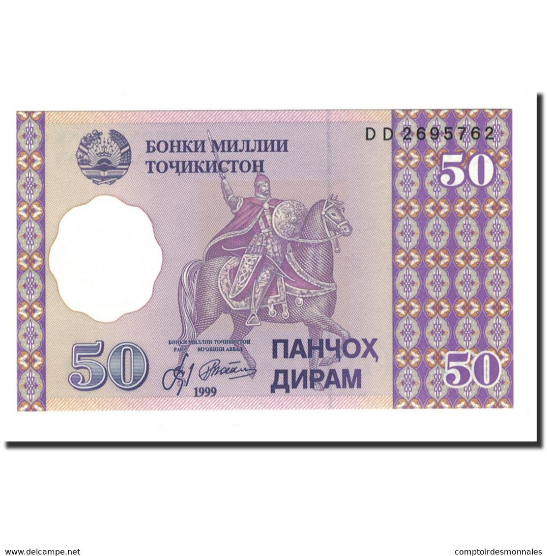 Billet, Tajikistan, 50 Diram, 1999 (2000), KM:13a, NEUF - Tadjikistan