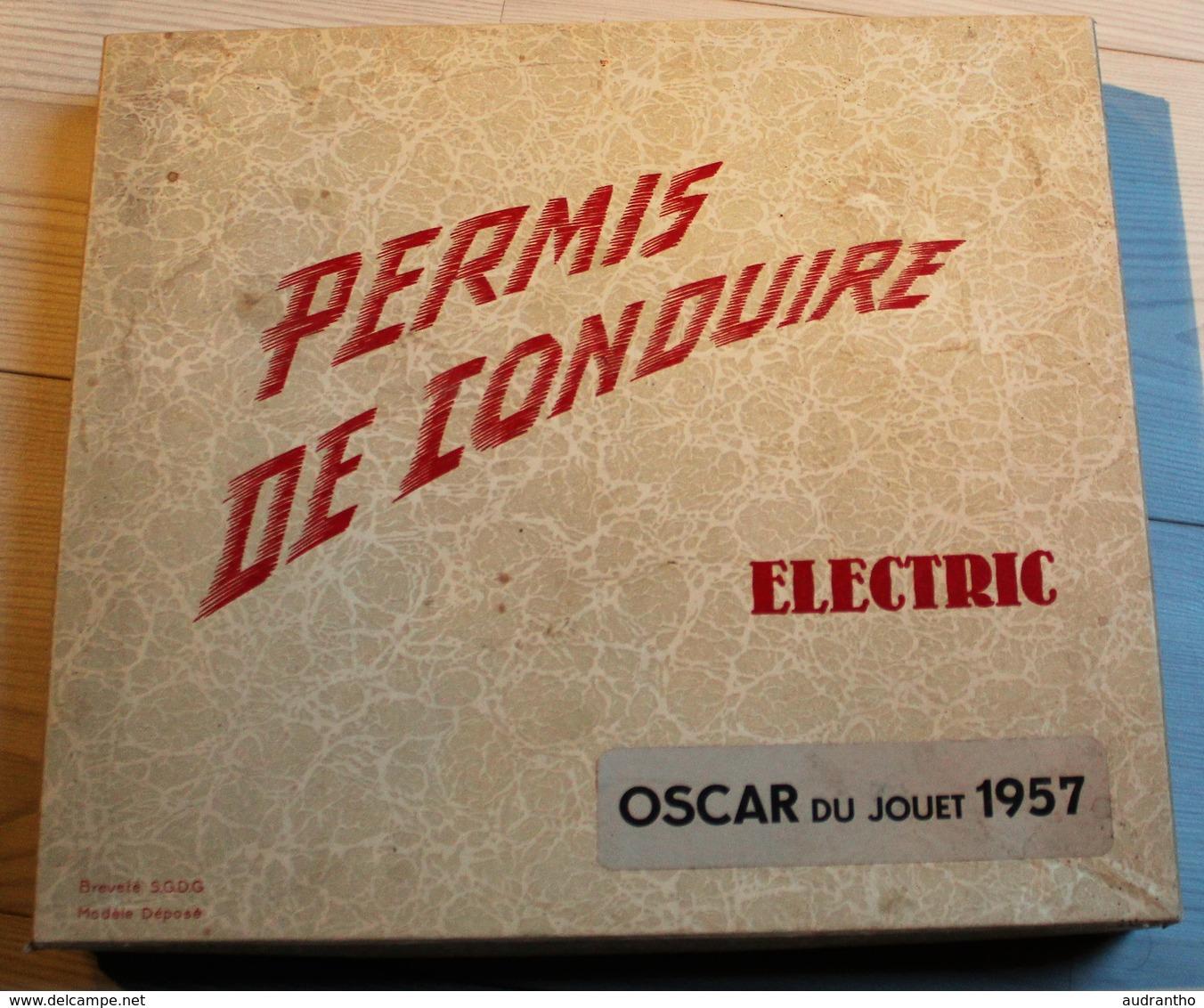 """Ancien Jeu Circuit Voiture électrique """"permis De Conduire"""" Oscar Du Jouet 1957 Modèle Déposé Breveté Sgdg - Electronic Games"""