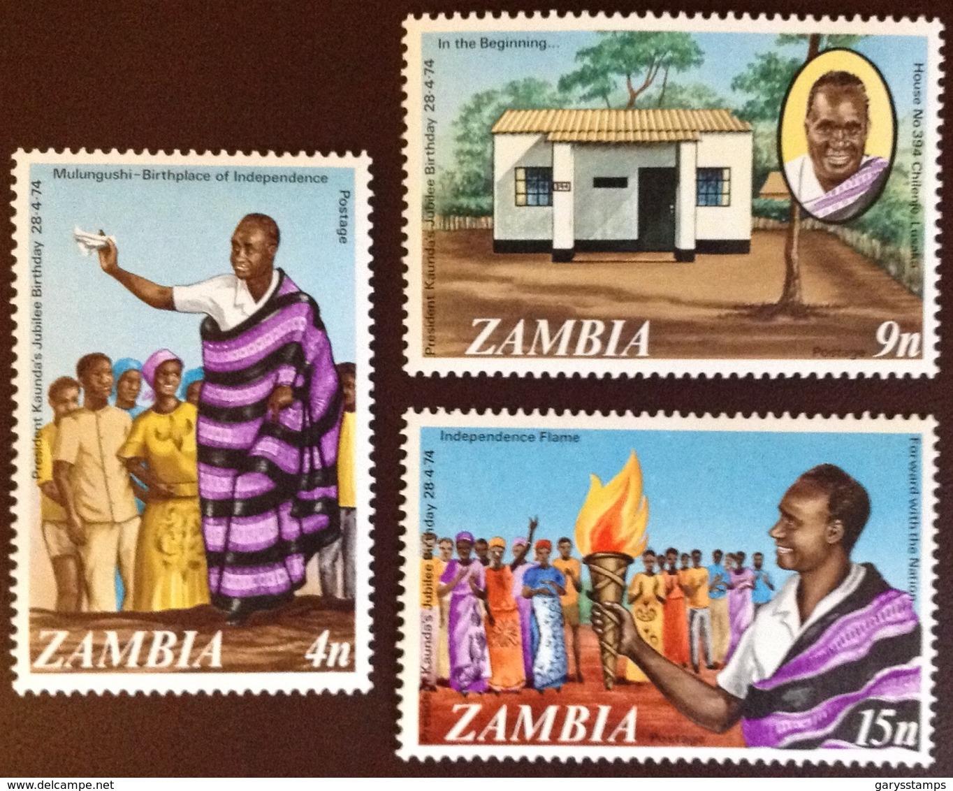 Zambia 1974 50th Birthday Of President MNH - Zambia (1965-...)