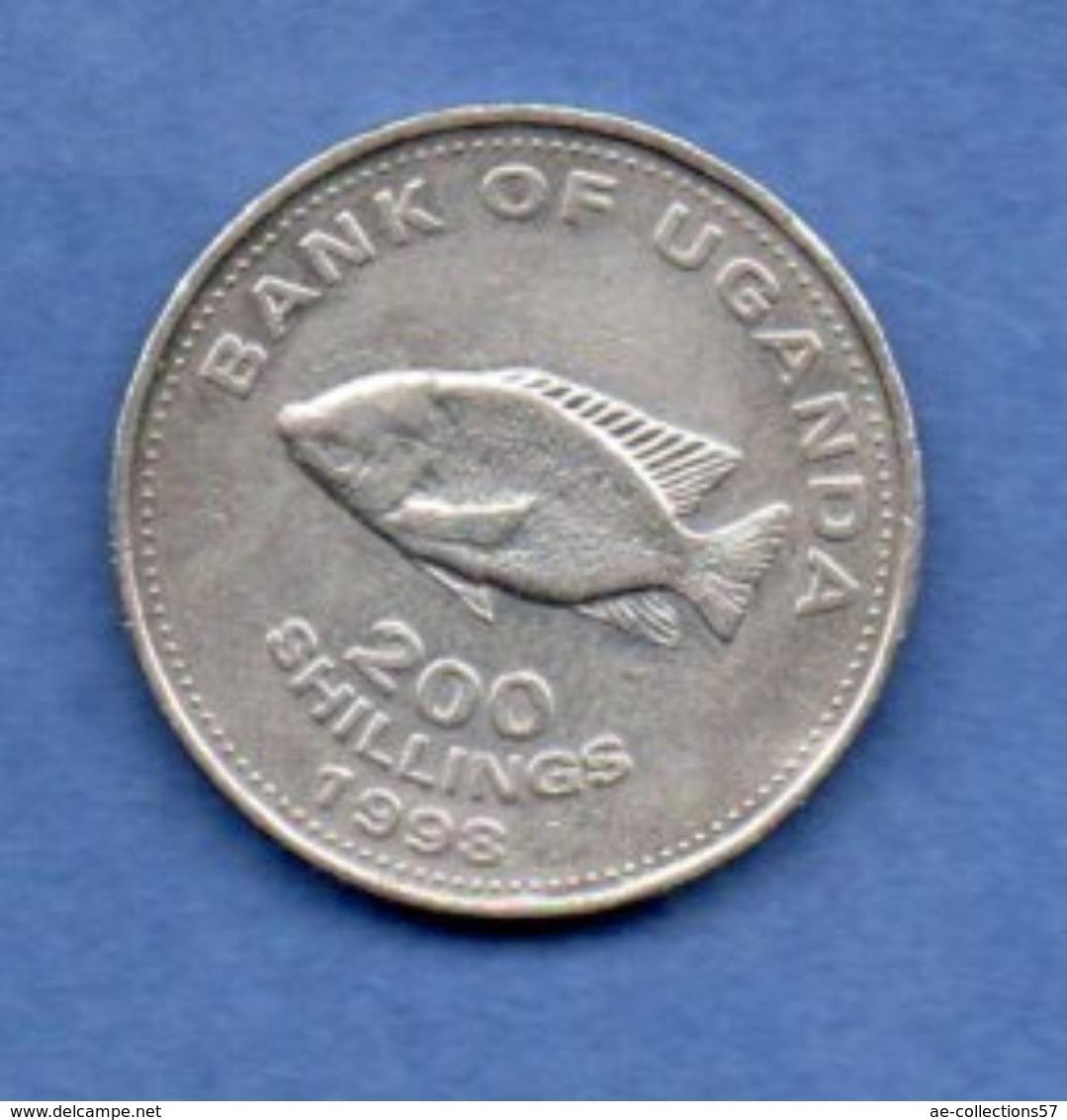Ouganda --  200 Shillings 1998    - Km # 68   -  état  TTB - Ouganda