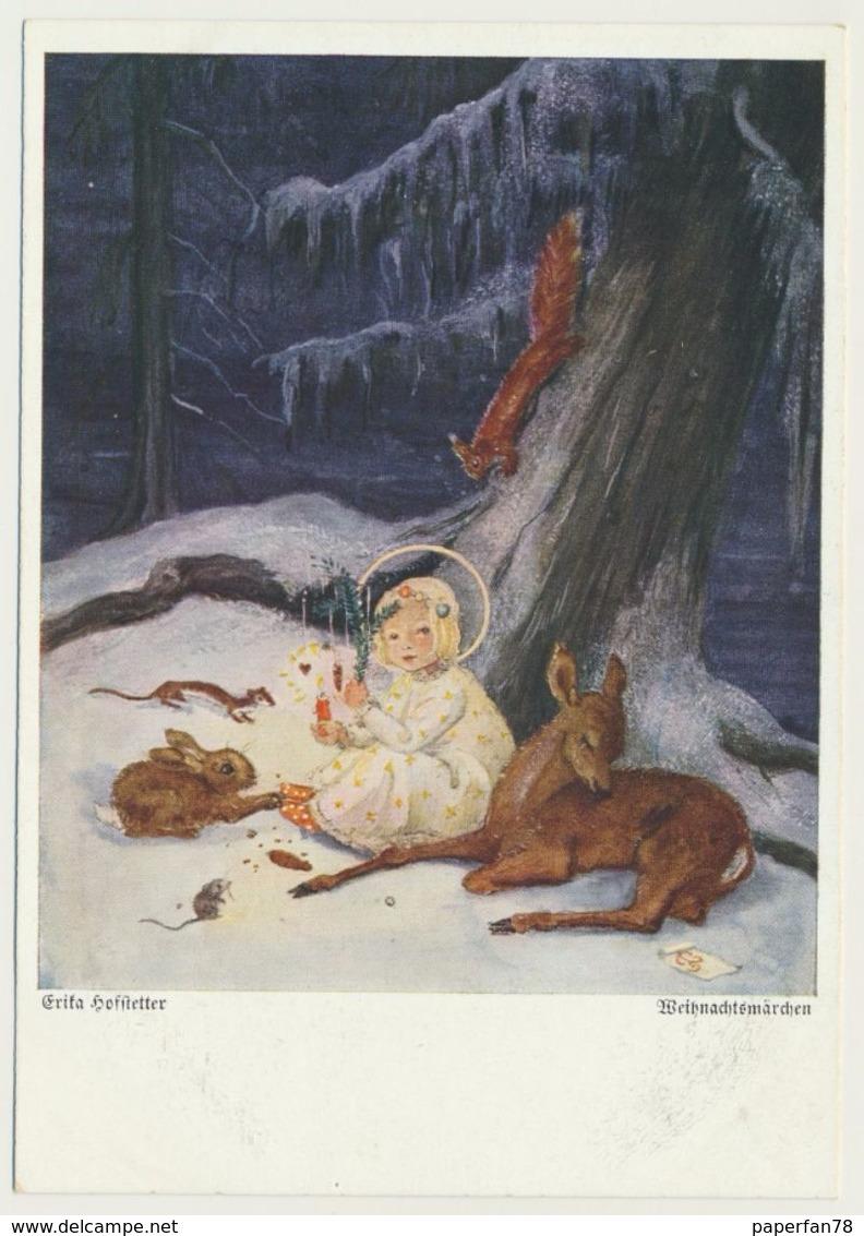 AK CP  Glückwunsch Weihnachten Christkind Wald Erika Hofstetter Wiechmann - Weihnachten