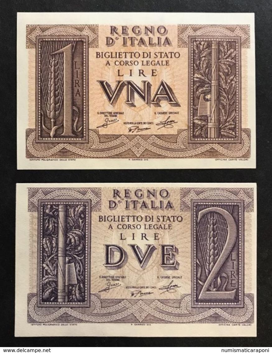 1+2 LIRE IMPERO 1939 FDS Lotto 462 - [ 1] …-1946: Königreich