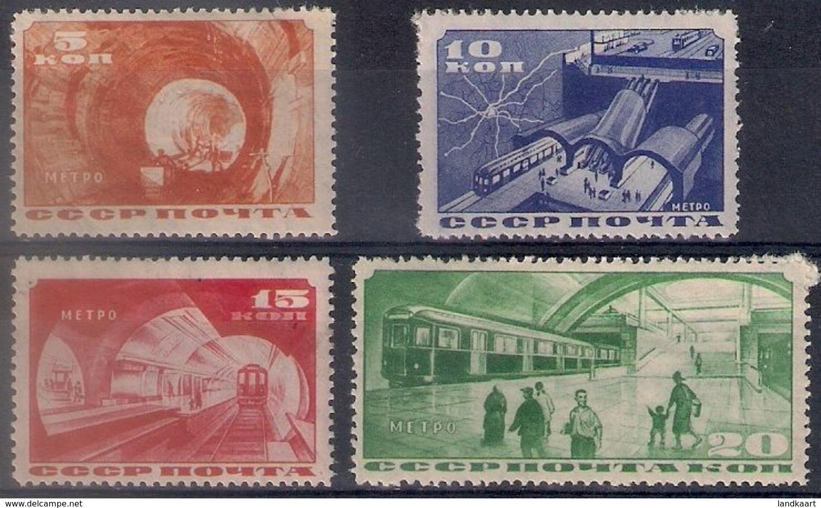 Russia 1935, Michel Nr 509-12, MH OG - 1923-1991 USSR