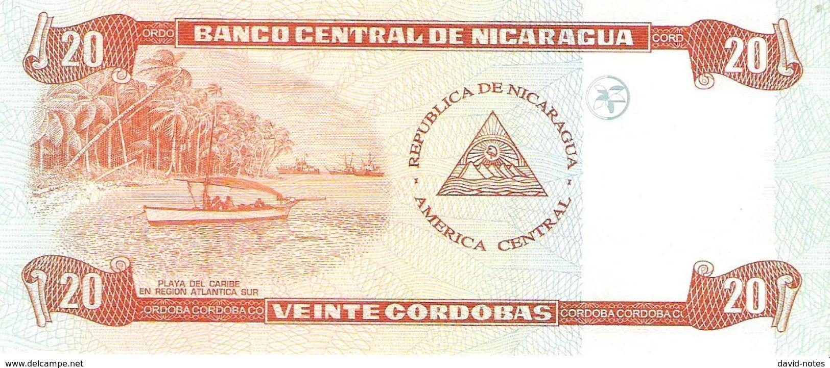 Nicaragua - Pick 196 - 20 Cordobas 2006 - Unc - Nicaragua