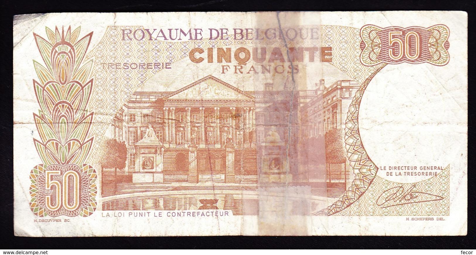 """50 FR Type """"1966"""" Koninklijk Paar   René Lauwerijns - 50 Francs"""