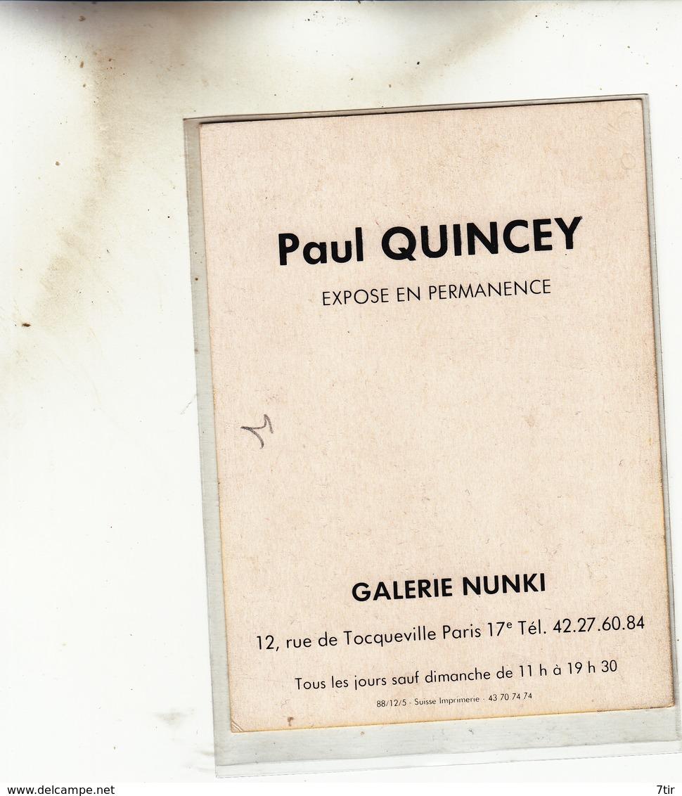 PEINTURE VERNISSAGE GALERIE NUNKI RUE DE TOCQUEVILLE PARIS PAUL QUINCEY - Faire-part