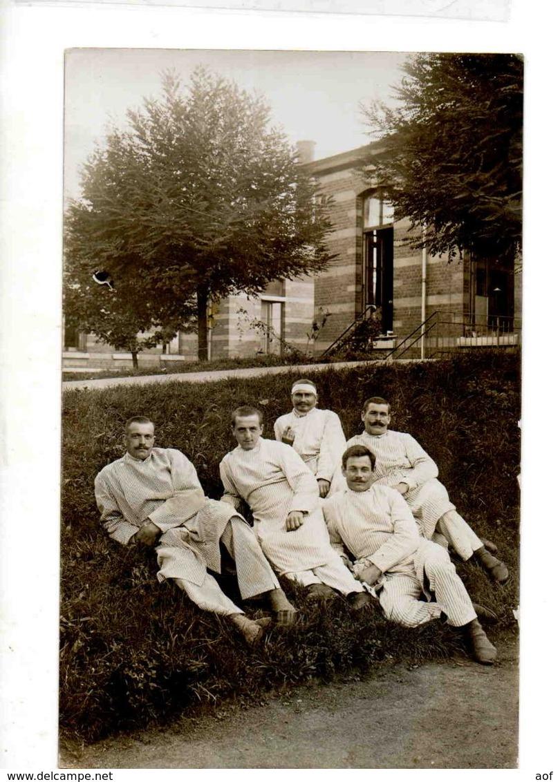 7393 BRUXELLES Kriegslazarett III 2 Cartes Photo - Health, Hospitals
