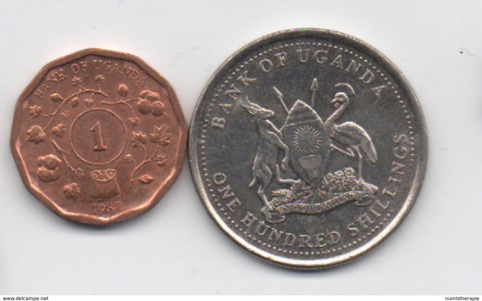 Ouganda : Lot De 2 Pièces 1987-1998 - Ouganda