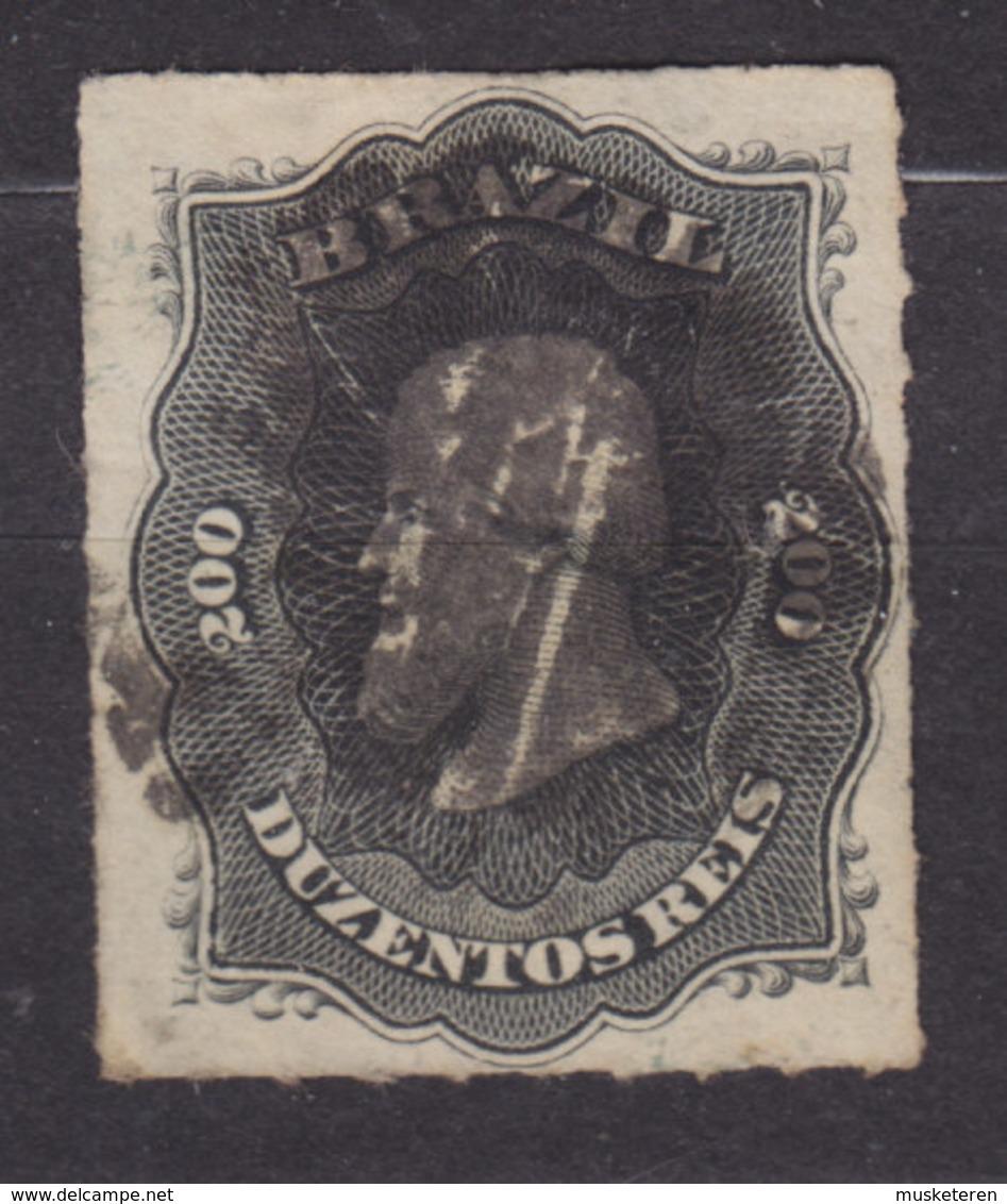 Brazil 1877 Mi. 35      200 R Kaiser Pedro II. - Brasil