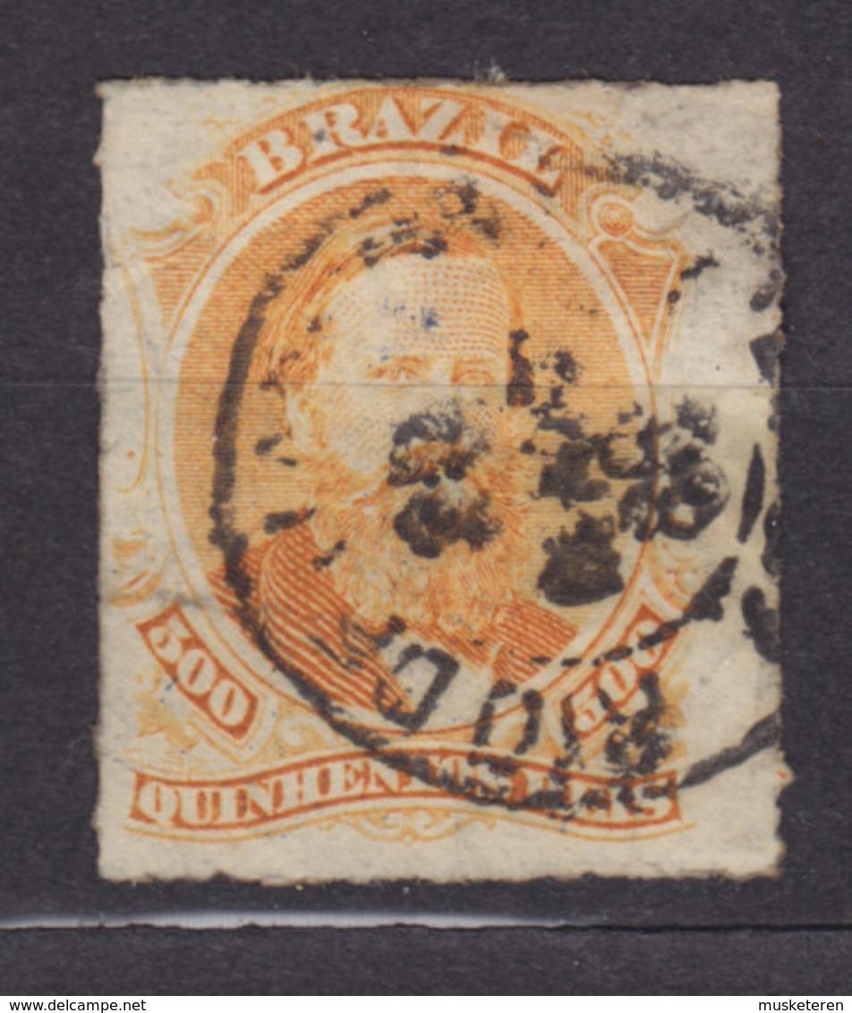 Brazil 1877 Mi. 36      500 R Kaiser Pedro II. - Usados