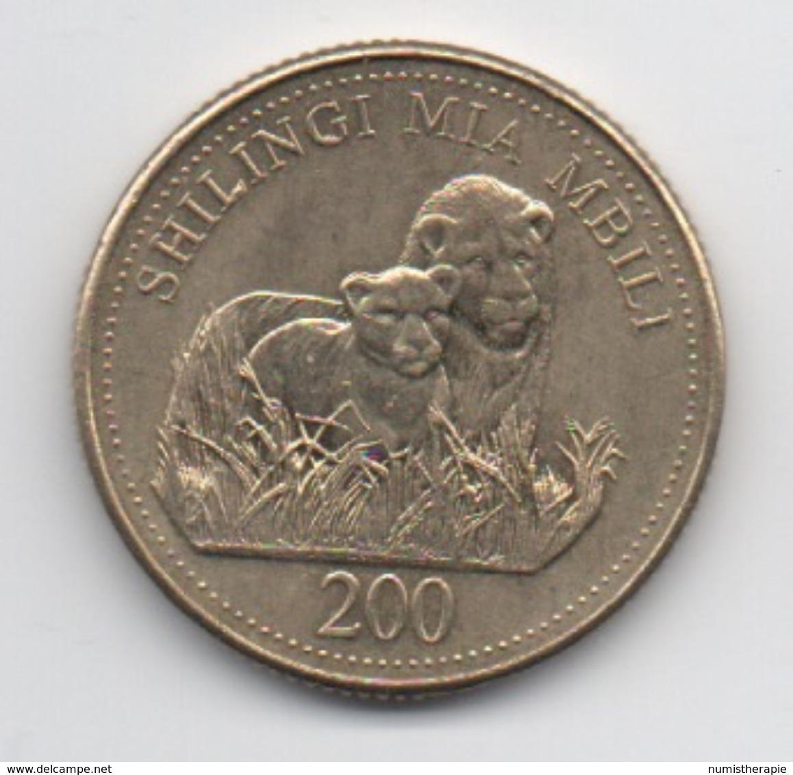 Tanzanie : 200 Shilingi 1998 (très Bon état) - Tanzanie