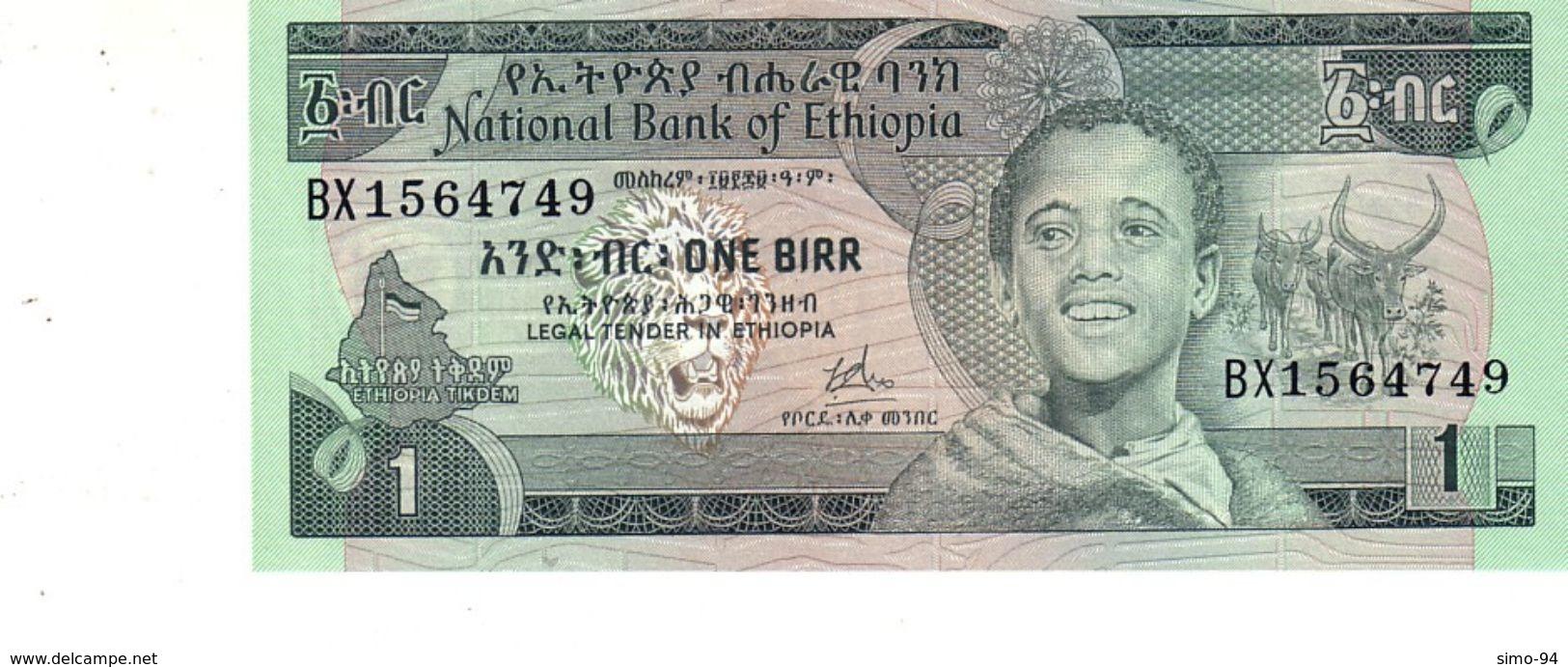 Ethiopia P.30a 1 Birr 1976 Unc - Ethiopie