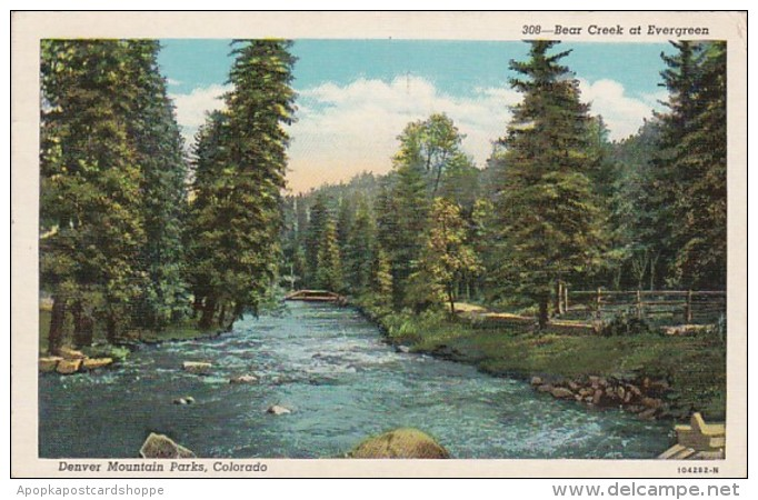Colorado Denver Bear Creek At Evergreen 1942 Curteich