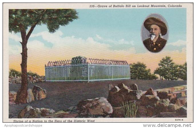 Colorado Denver Grave Of Buffalo Bill On Lookout Mountain